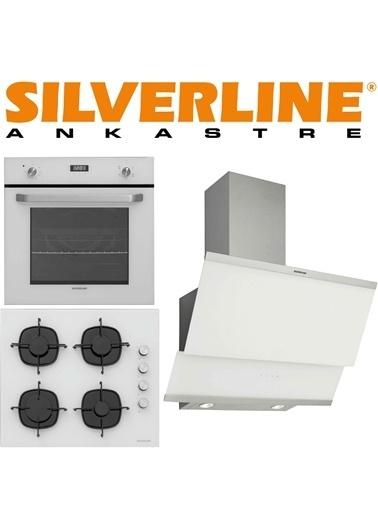 Silverline Classy 60 Cm Cam Beyaz Ankastre Set Beyaz